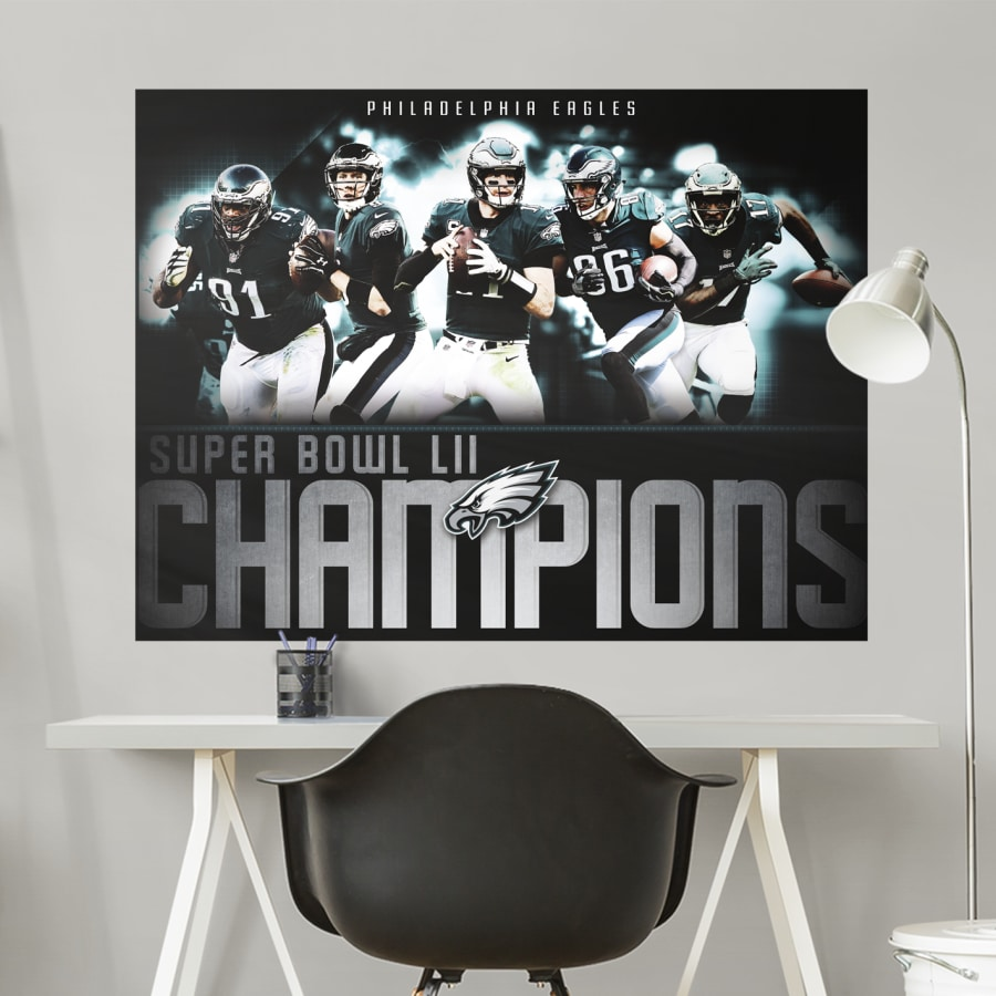 Philadelphia Eagles Super Bowl LII Champions Mural   Giant 900x900