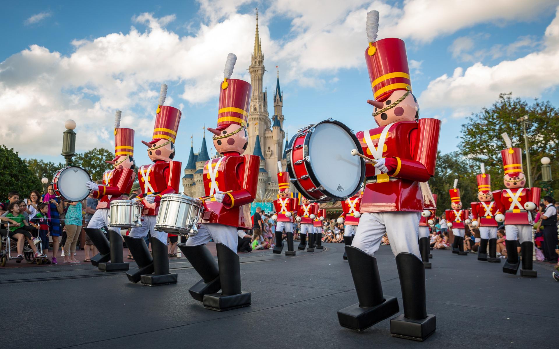 Christmas Parade at Magic Kingdom Walt Disney World widescreen 1919x1200