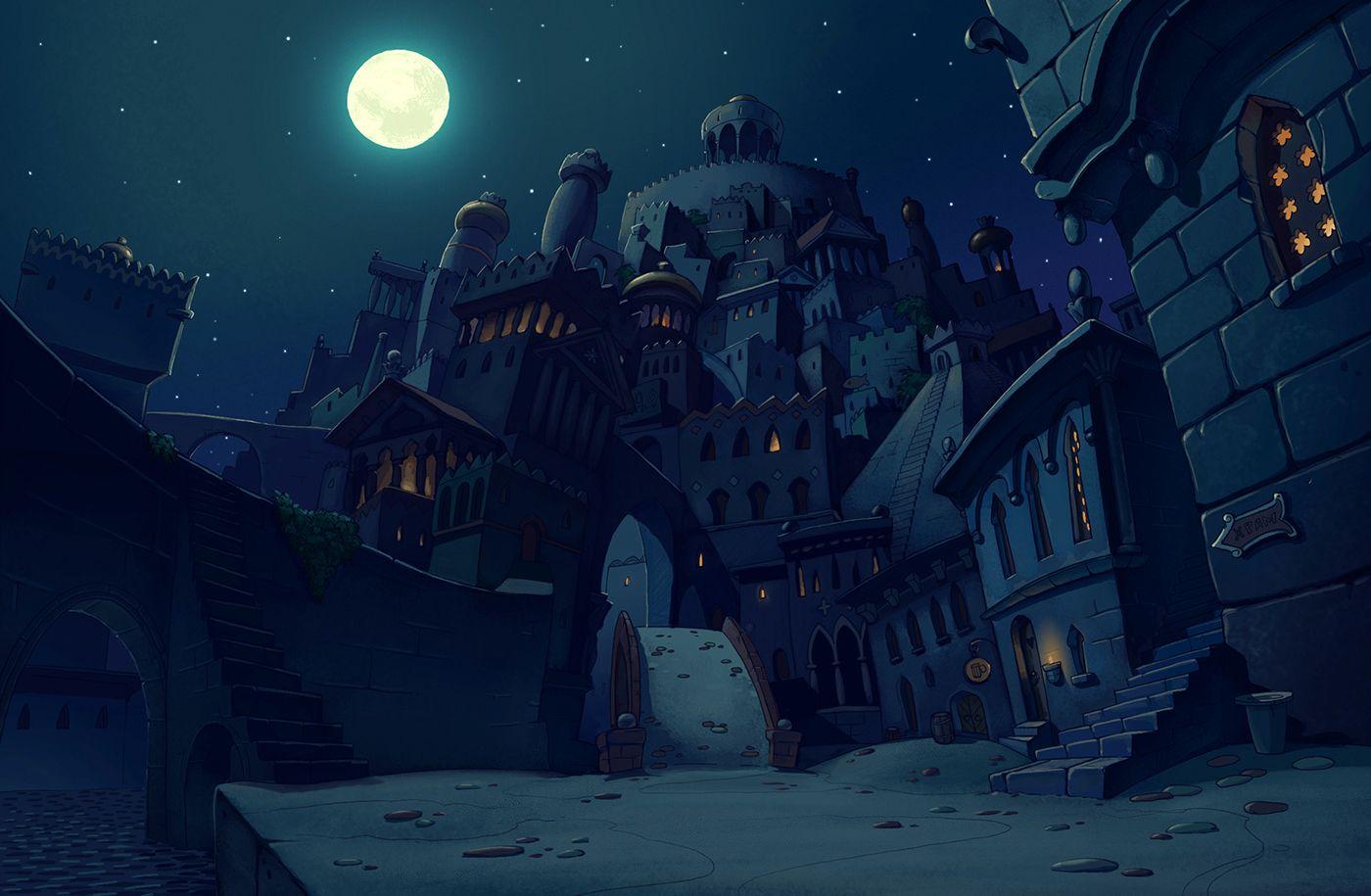 Animation backgrounds on Behance Animation background Scene 1400x915