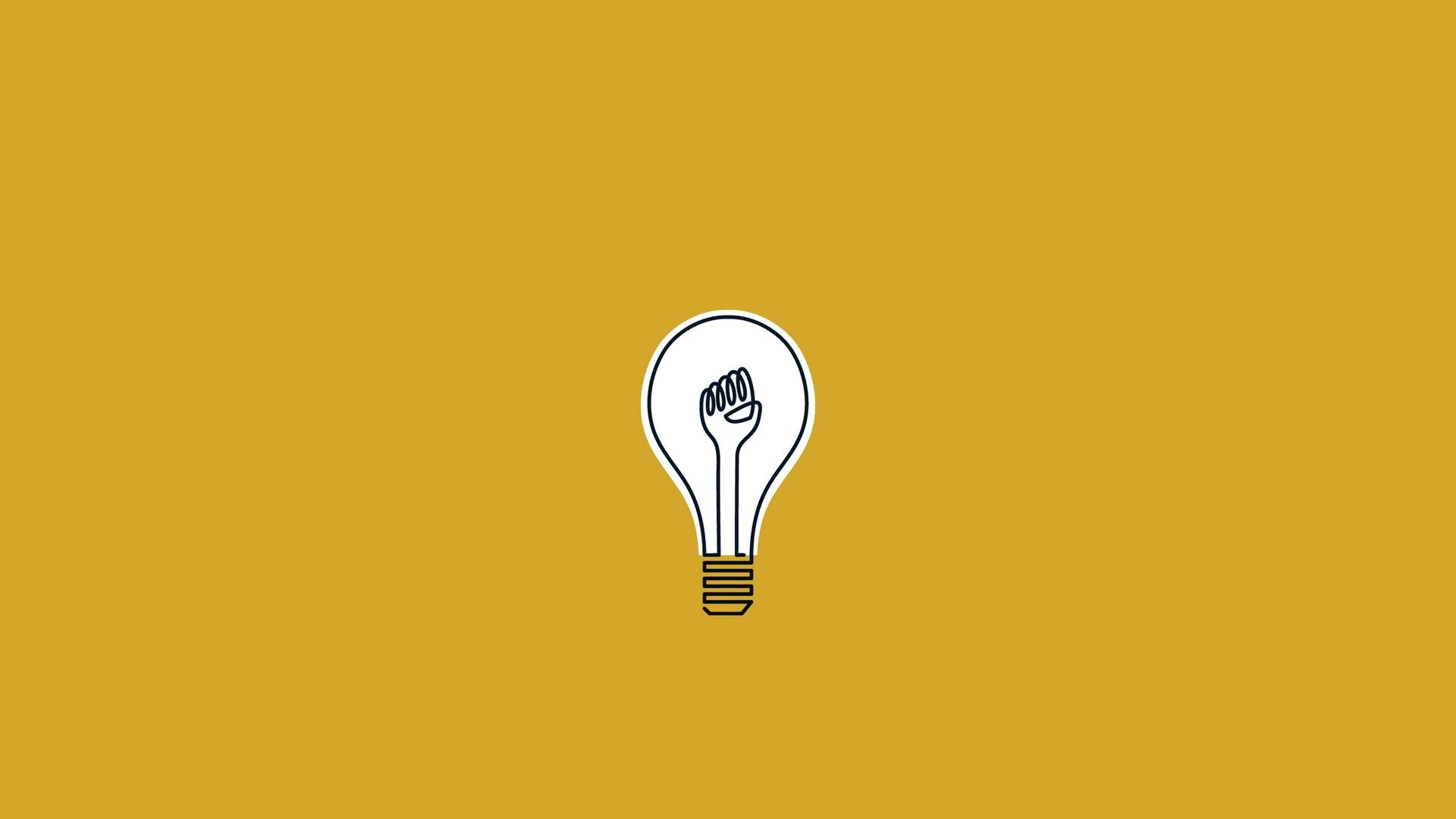 Minimal Bulb Artistic HD Wallpaper Aesthetic desktop wallpaper 1920x1080