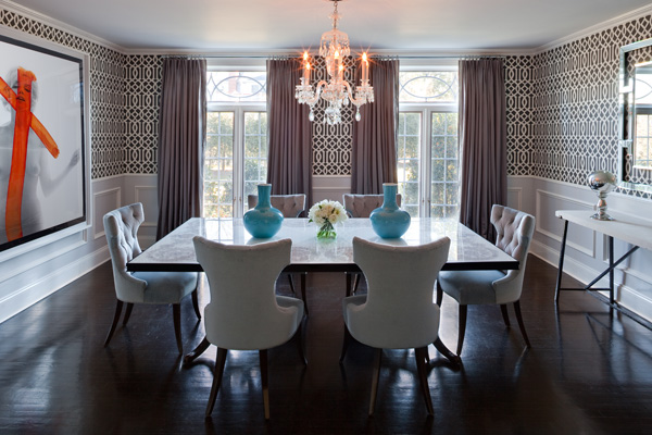 Dining Room Wainscoting   Contemporary   dining room   Robyn Karp 600x400