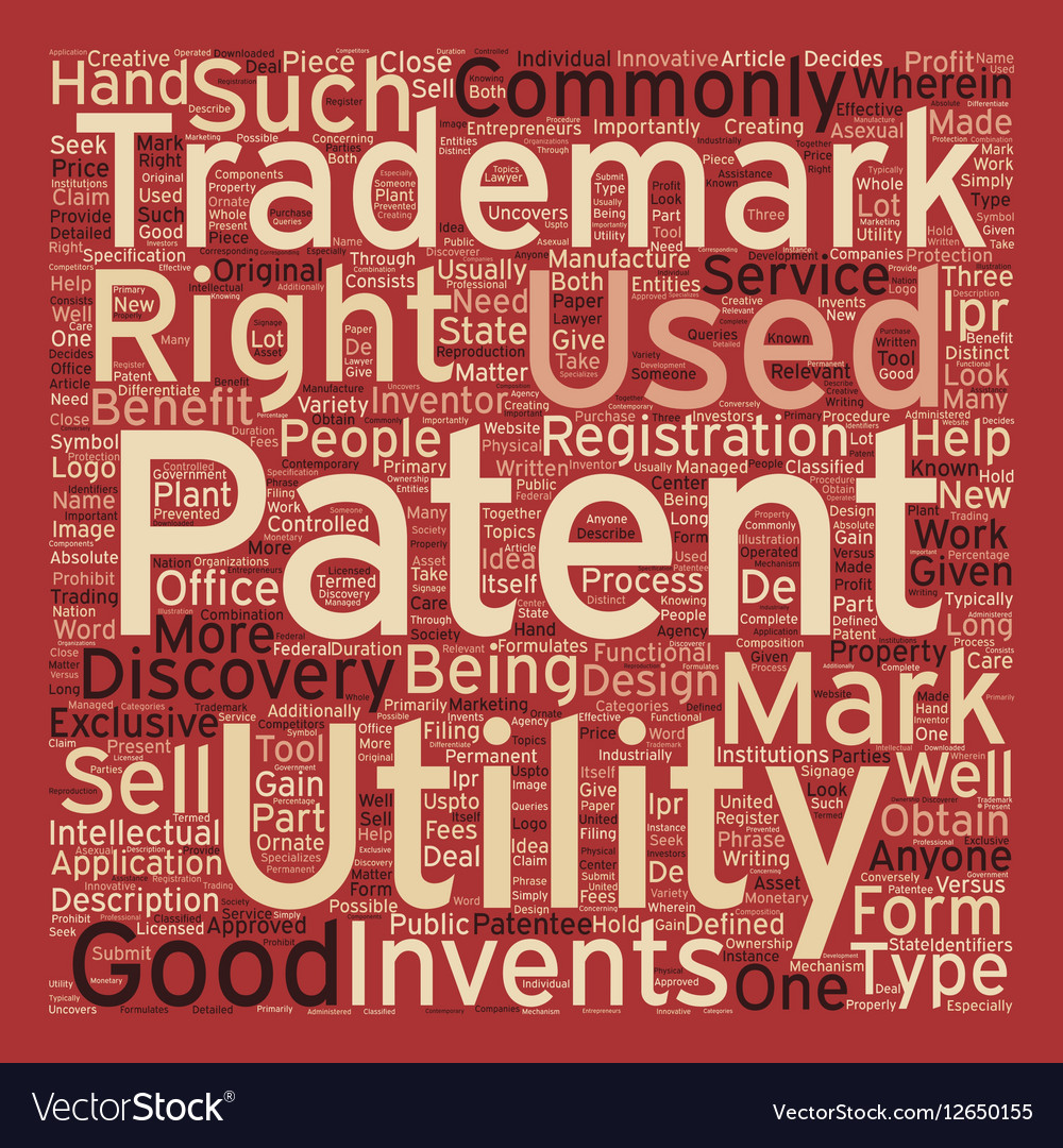 Patent trademark text background wordcloud concept 1000x1080