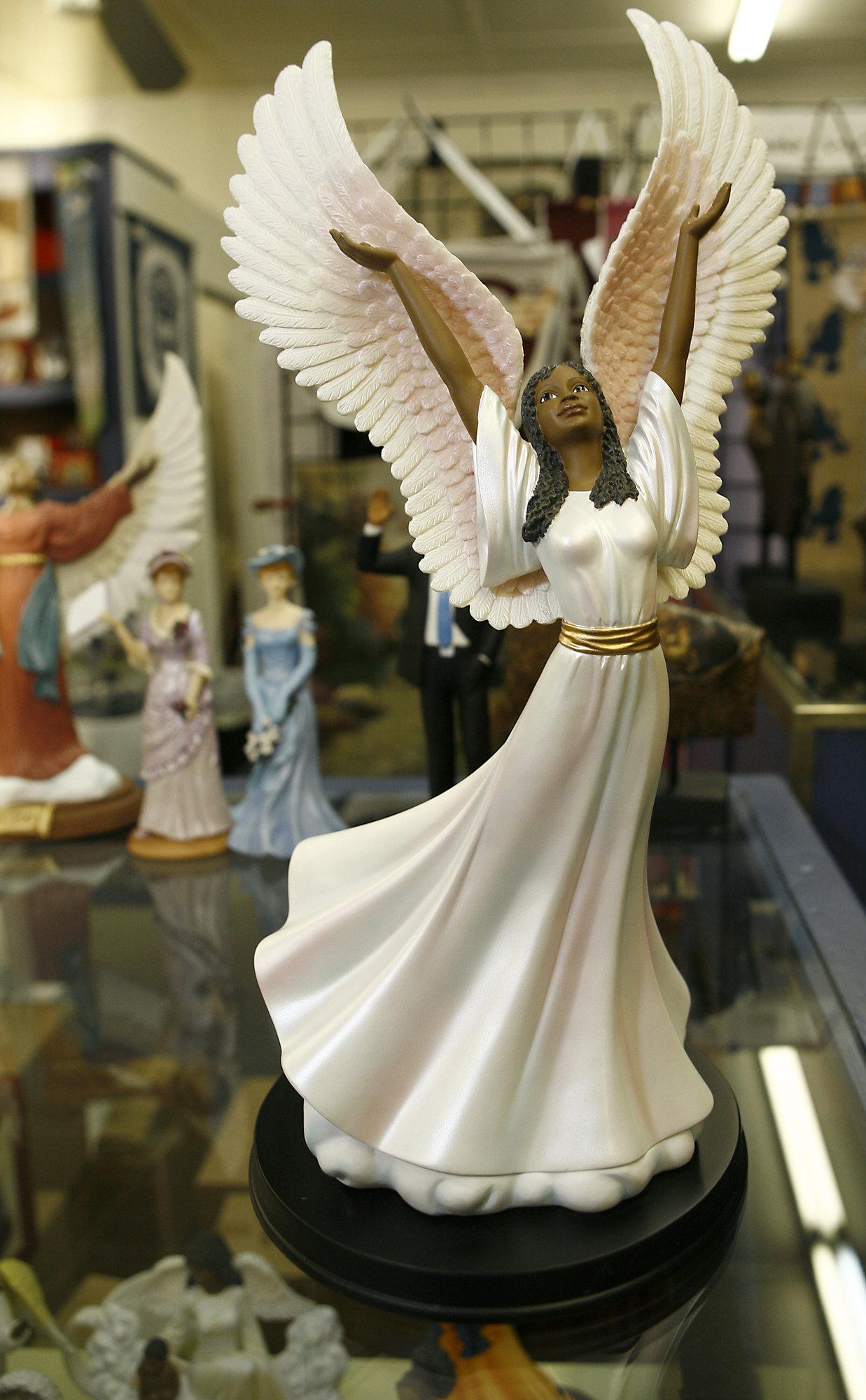 African american angels wallpaper wallpapersafari - Angels figurines for sale ...