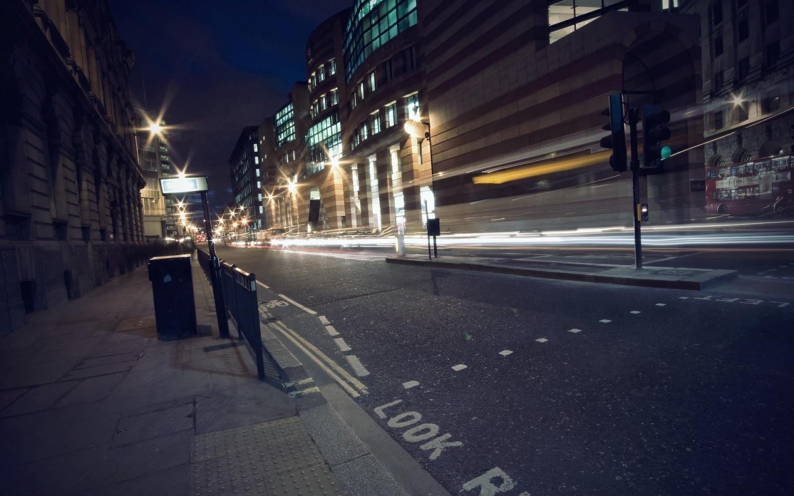 Hd Wallpapers Blog Night Street Hd Wallpapers 1600x1000