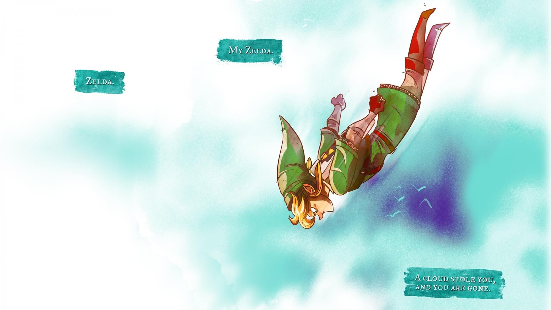 Download Wallpaper 1920x1080 The legend of zelda Jump Elf Fly Link 1920x1080