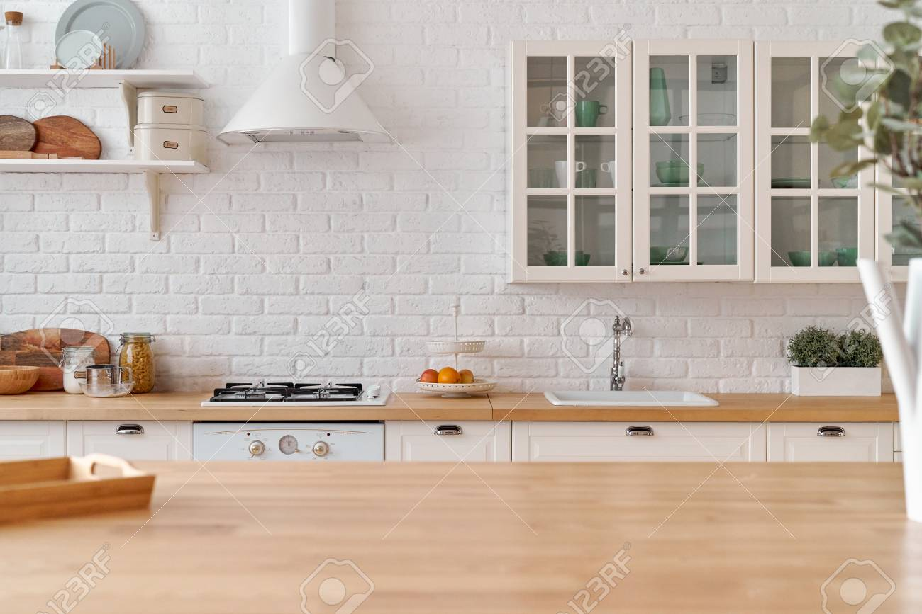 Kitchen Table Kitchen Background Stock Photo Picture And 1300x867