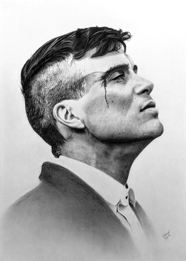 Tommy Shelby Drawing by JPW Artist 643x900
