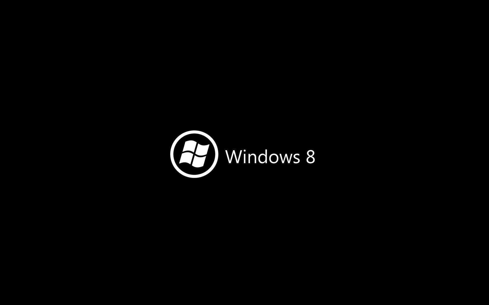 1920x1200 Windows 8 Dark Background Logo Wallpaper Background 1920x1200