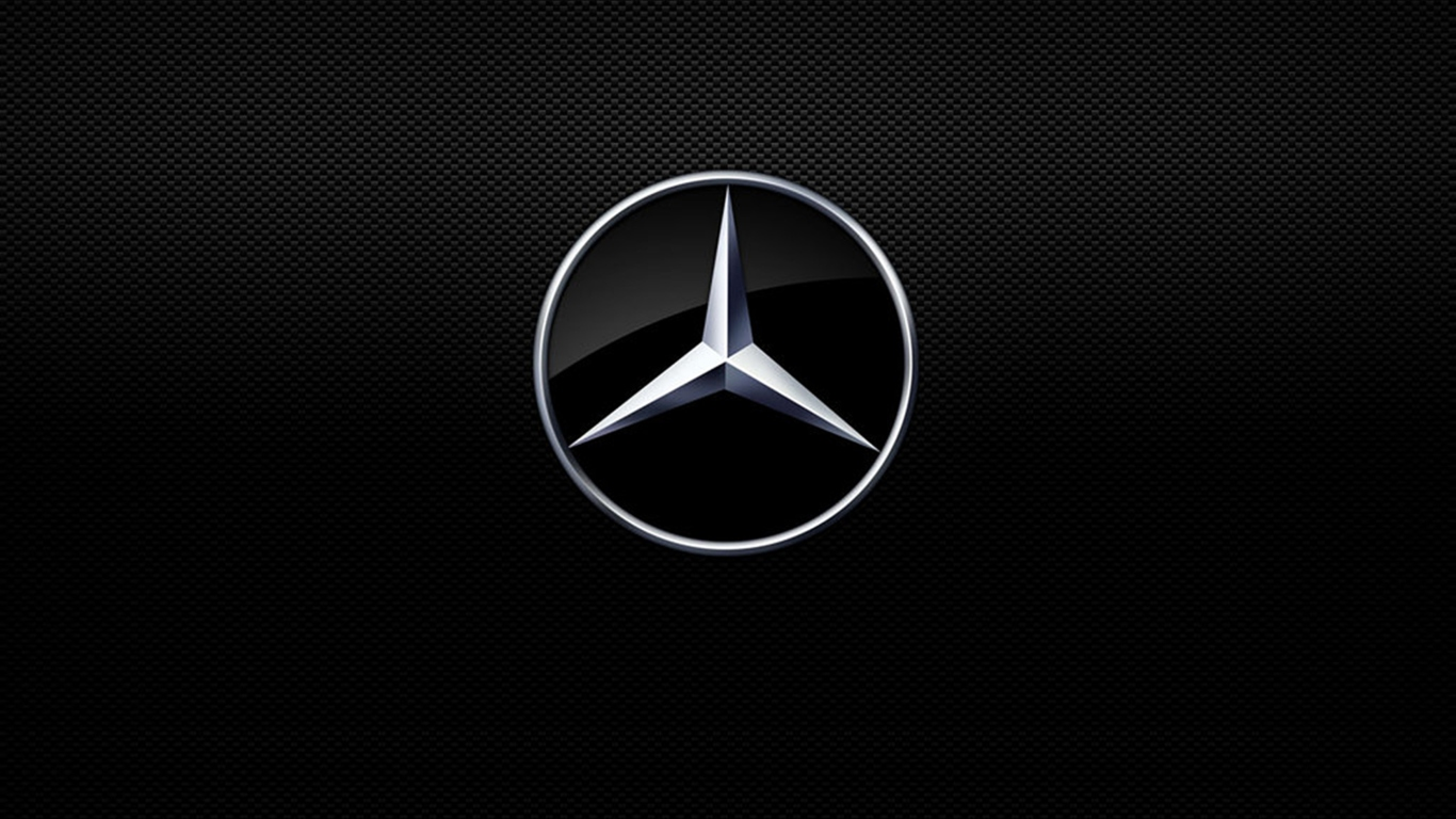 Mercedes Logo Wallpaper for Desktop Netbook 1366x768 HD