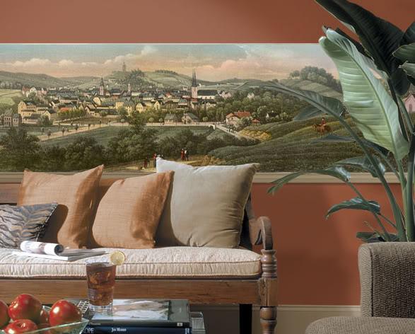 Landscape Vintage Scenes PrePasted Mural Style Wallpaper BorderChoice 587x472