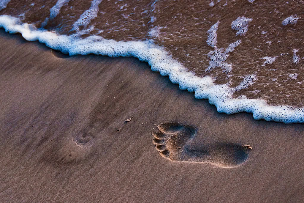 Footprint Wallpaper Background Theme Desktop 1024x683