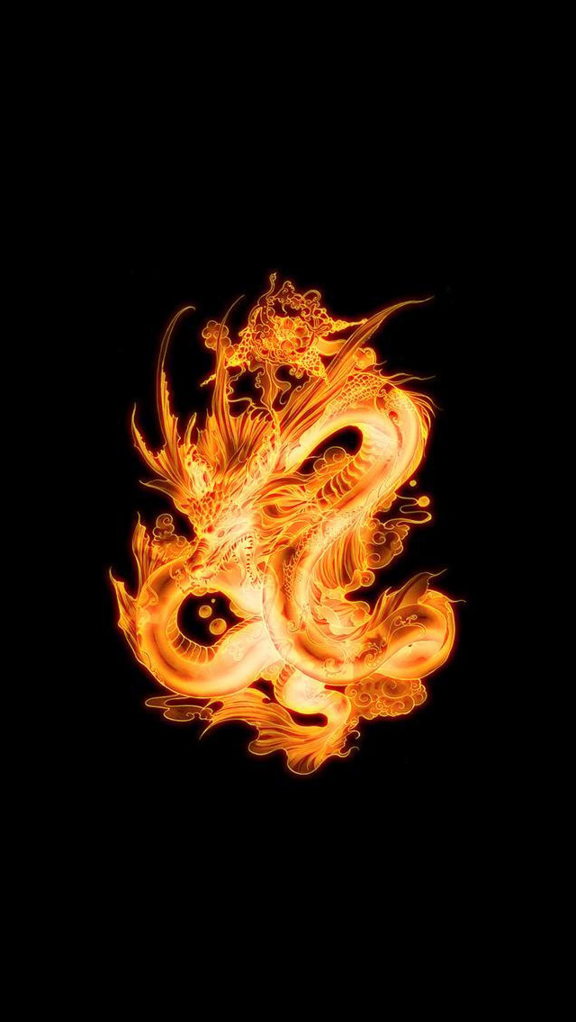 Fiery dragon iPhone 5 wallpapers Background and Wallpapers 640x1136