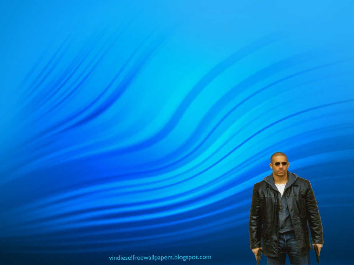 Desktop Wallpaper Of Vin Diesel Action Movie Actor With Two Guns In 1200x900