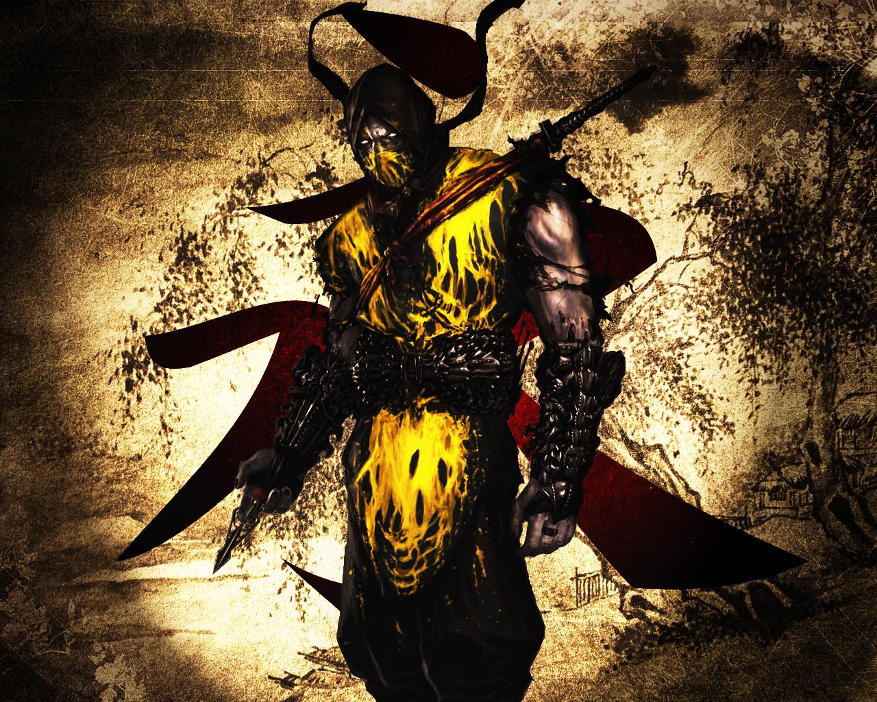 Mortal Kombat Scorpion Wallpaper Cool HD Wallpapers 1280x1024