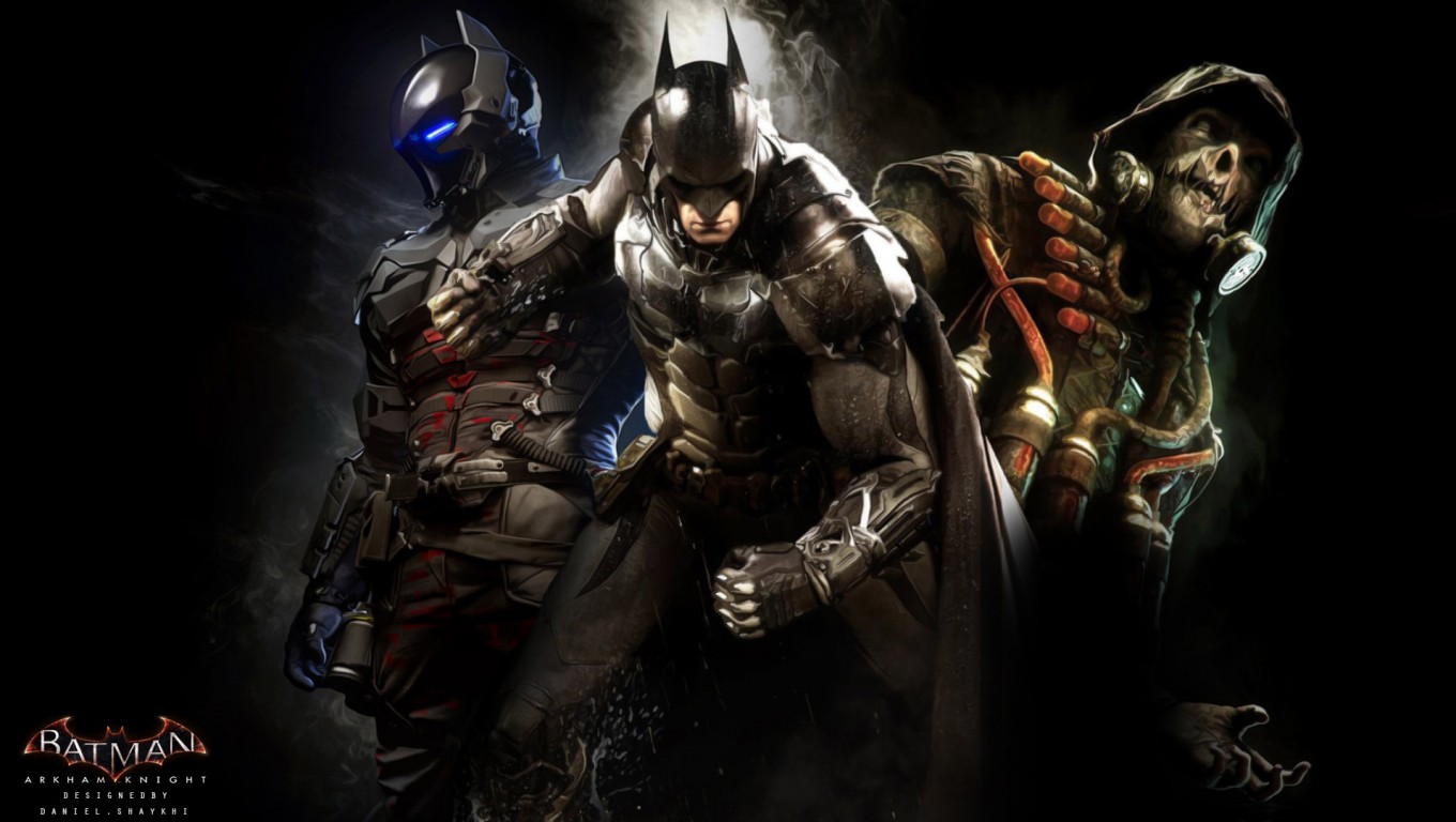 Batman Arkham Knight Rises Game HD Wallpaper 1024x578 Batman Arkham 1360x768