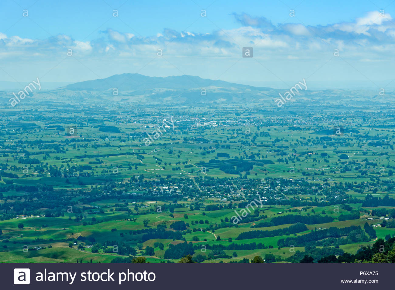 Vista of the Waikato region from Mt Pirongia with Sanctuary 1300x957