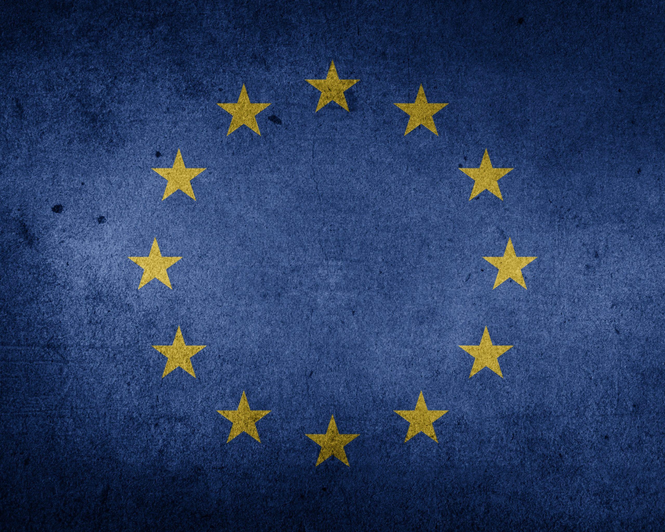 The Flag of the European Union Grunge HD Wallpaper 2560x2048