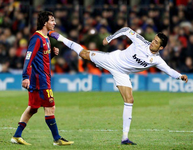 Ronaldo vs Messi 674x523
