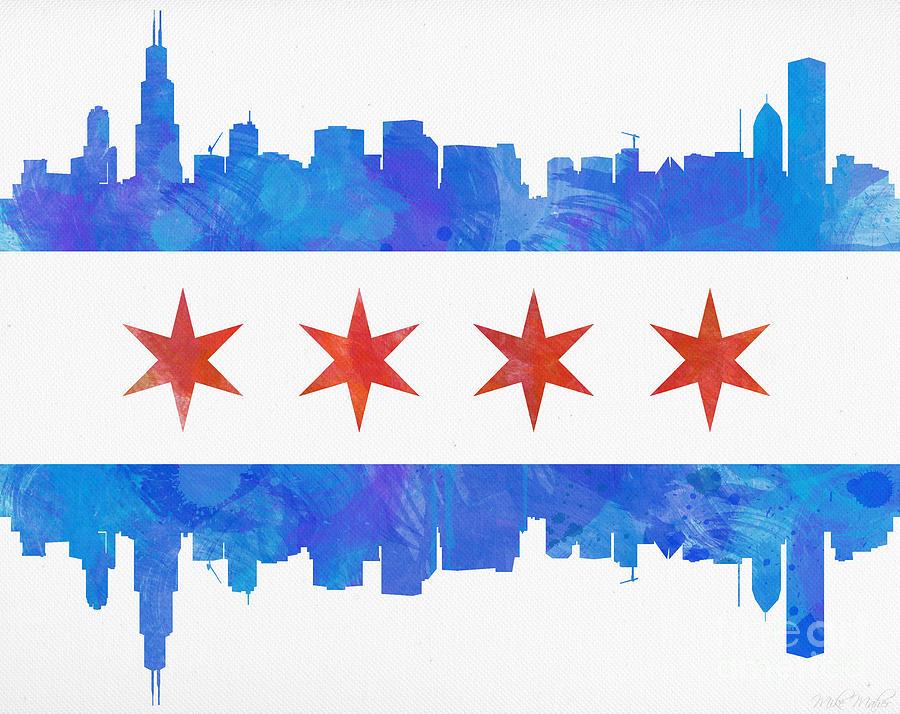 chicago flag desktop wallpaper