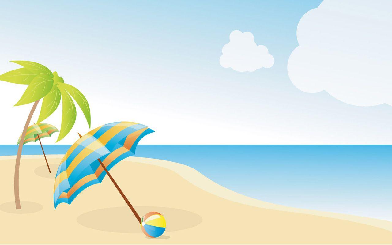 beach clip art Summer Beach Wallpapers X image   vector clip art 1280x800