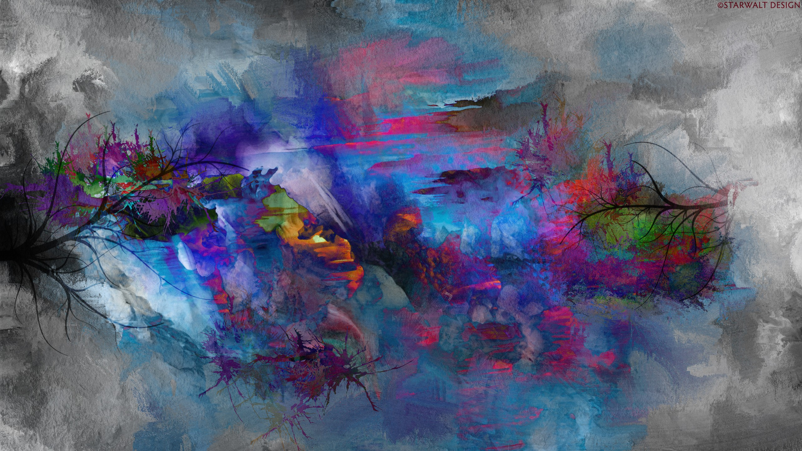 Abstract nature painting wallpapers 43554 2560x jpg 272128 2560x1440