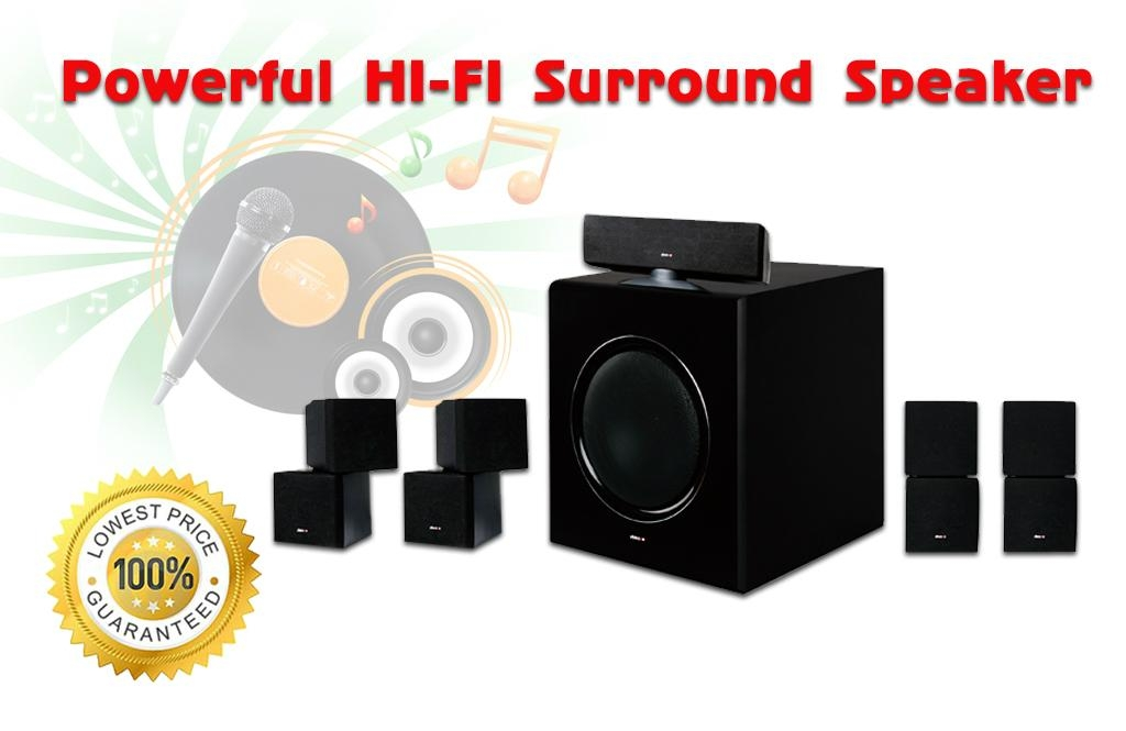 Powerful Hifi 51 surround sound speakers for 3D home theater system 1 1024x665