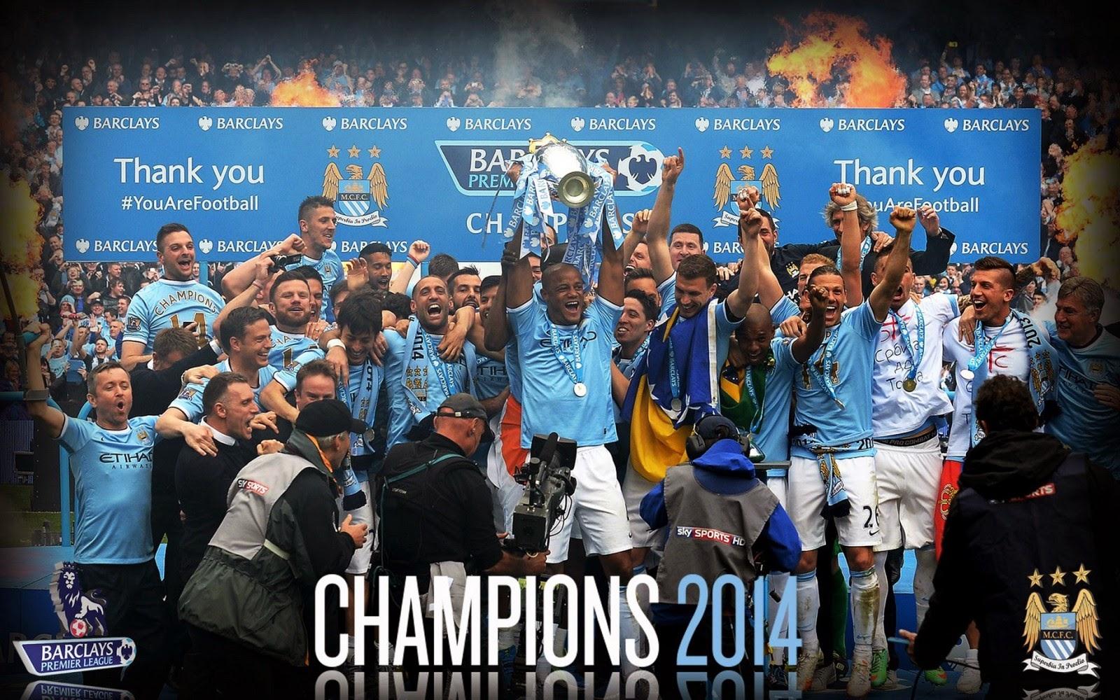 Manchester City 2014 Premier League Champion England HD Desktop 1600x1000