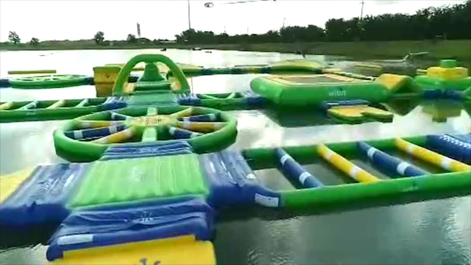 Make a splash at Rosharons floating trampoline waterpark Altitude 1600x900