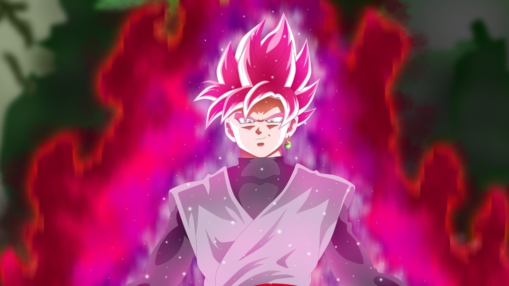 Free Download Black Goku Dragon Ball Super Anime Boy