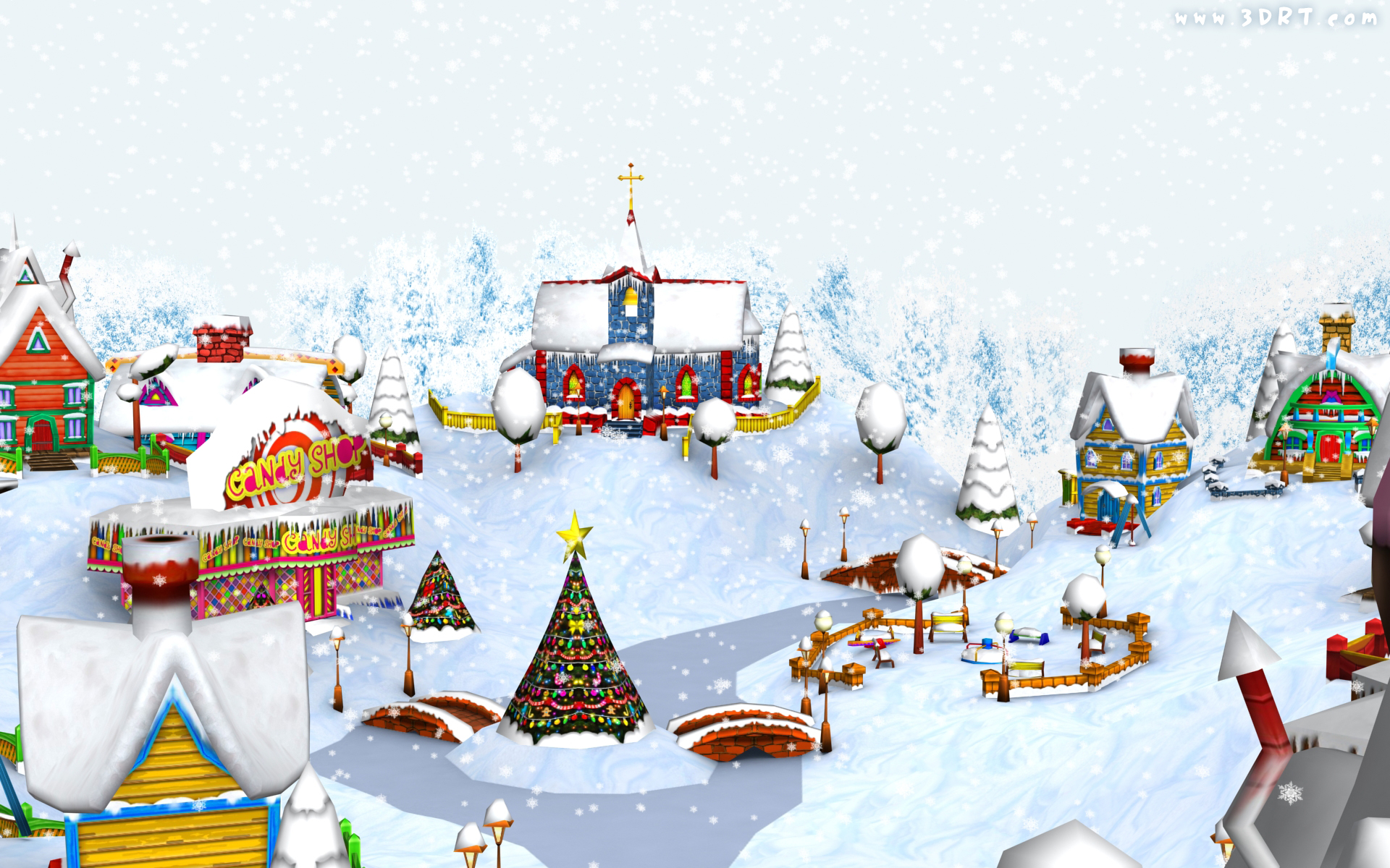 Christmas Village wallpaper   170303 1920x1200