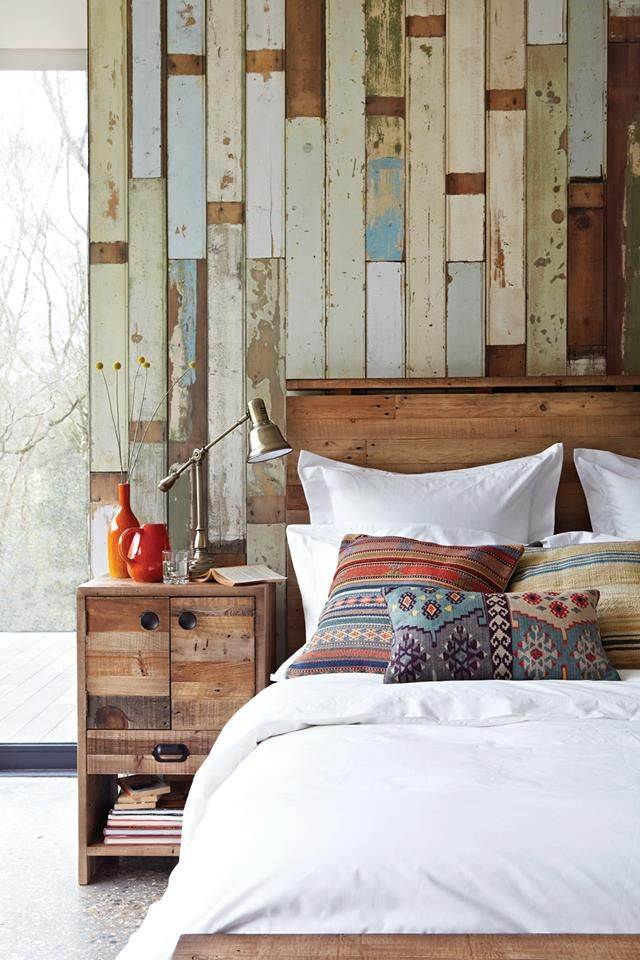 interior idea reclaimed wood bedroom design bedrooms house wood walls 640x960