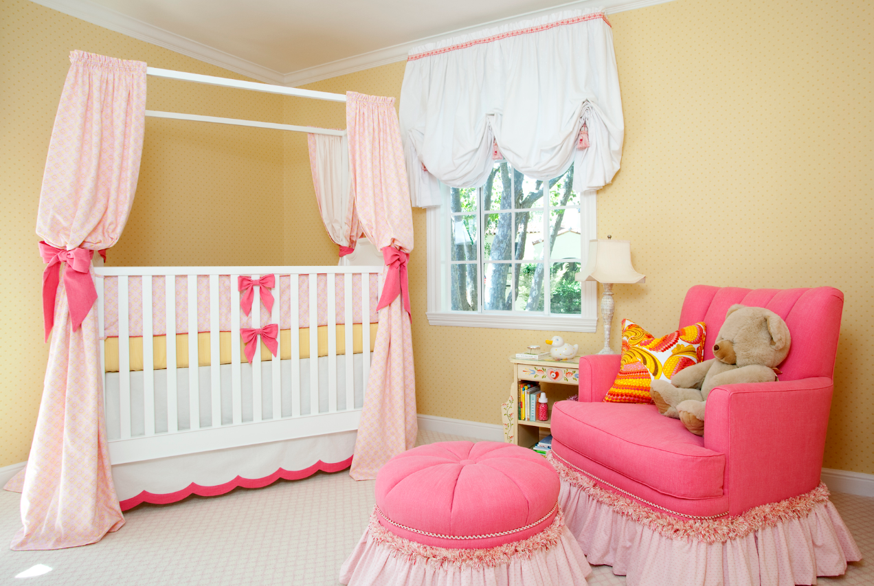 Whimsical chic and opulent This darling nursery room was created by 1272x853