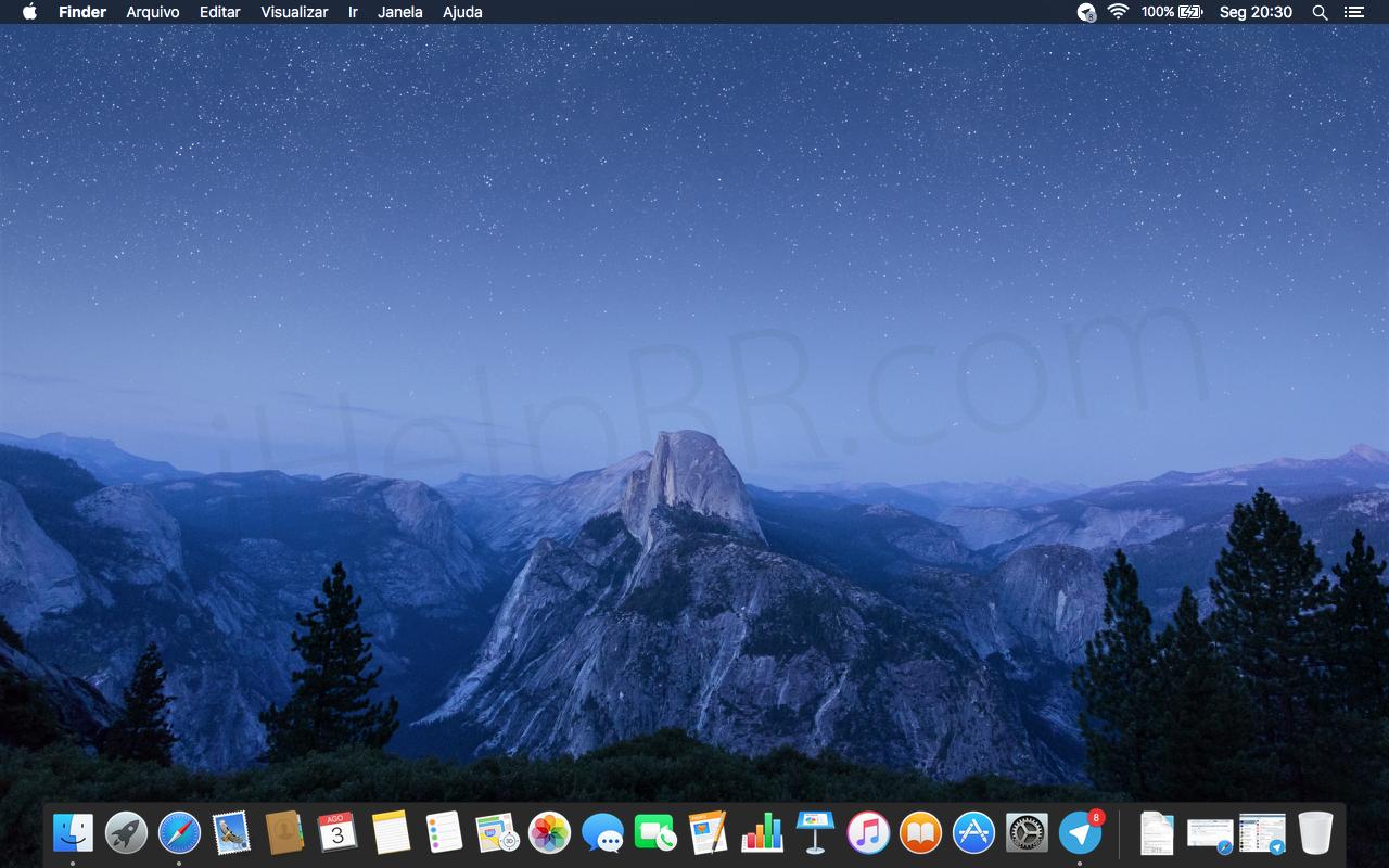 agora o novo plano de fundo do OS X El Capitan em alta resoluo 1280x800