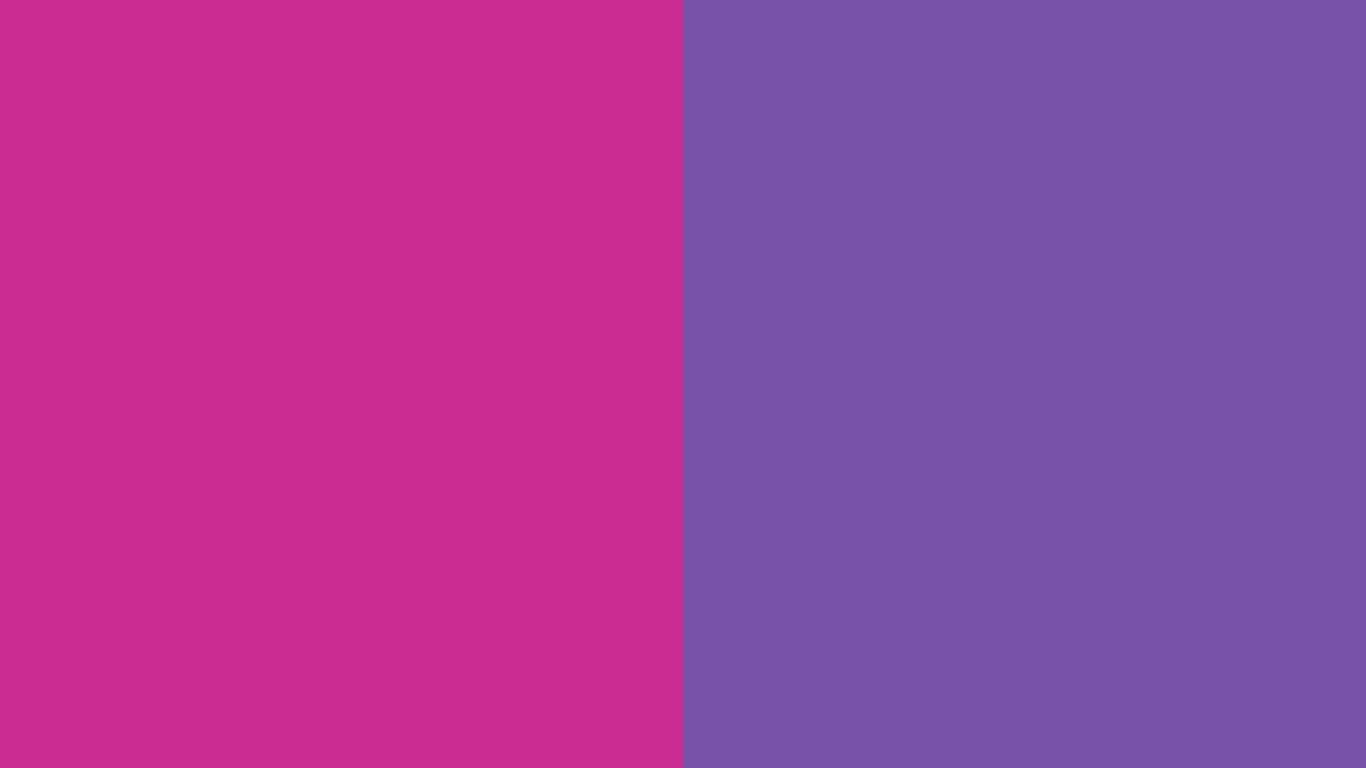 2560x1600 Royal Fuchsia and Royal Purple Two Color Background 1366x768