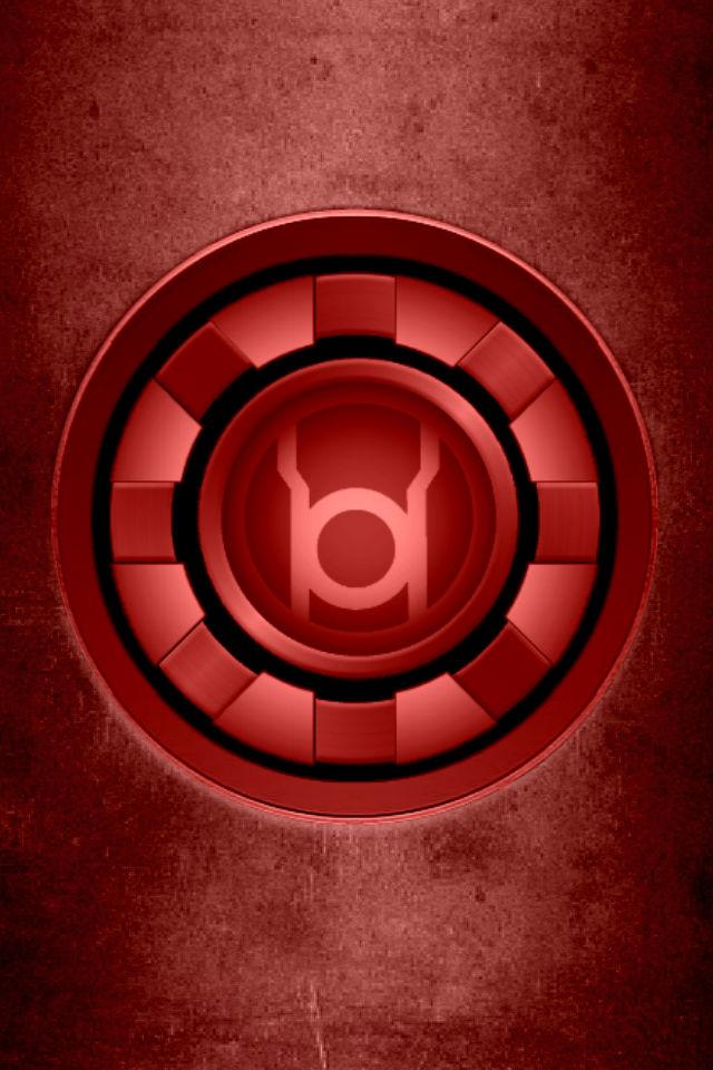 Red Arc Reactor Wallpaper Iron man red lantern arc 640x960