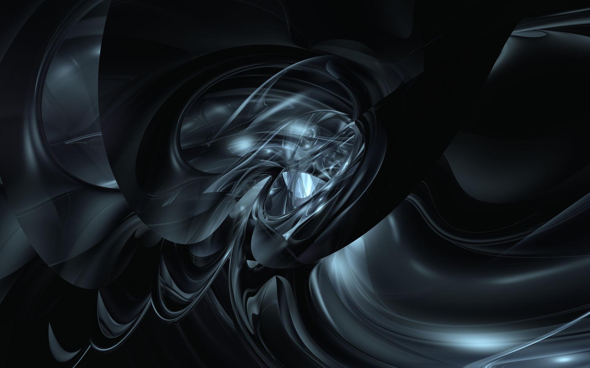 Black 3D Backgrounds HD 1920x1200