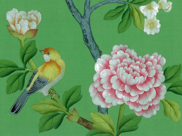 handpainted silk wallpaper asian wallpaper 640x478