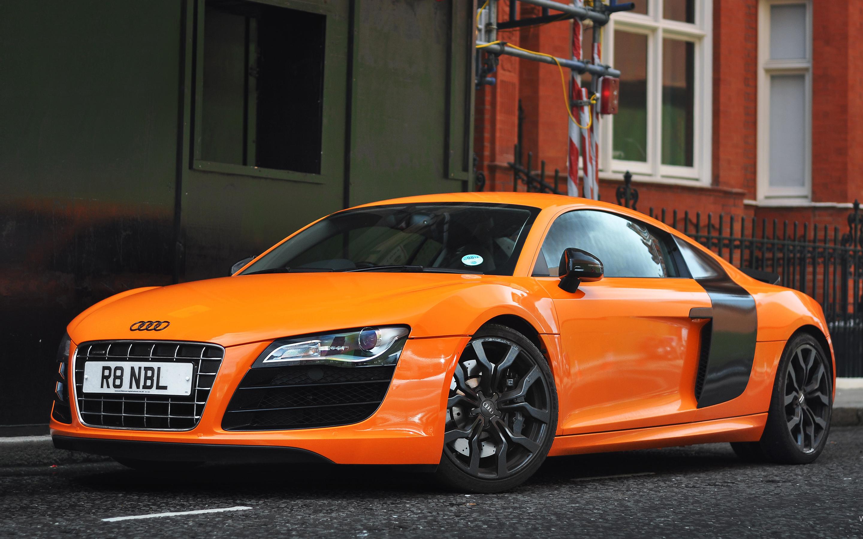 Orange Audi R8 Wallpaper HD Car Wallpapers 2880x1800