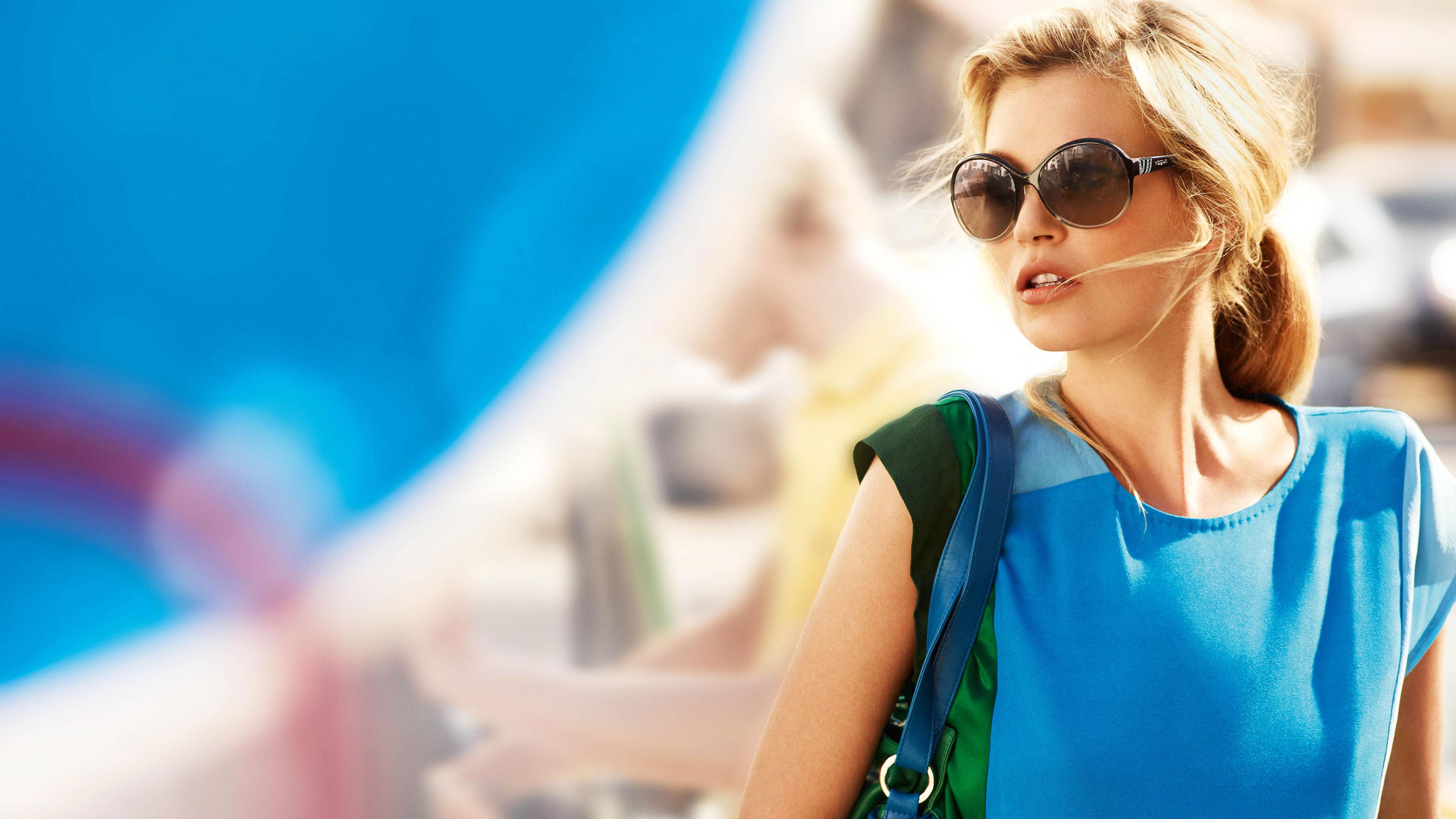 Girl in Glasses 2 SDGN Ultra HD Desktop Background Wallpaper for ... | 2160x3840