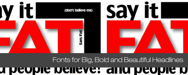 60 Fonts for Big Bold and Beautiful Headlines 625x250