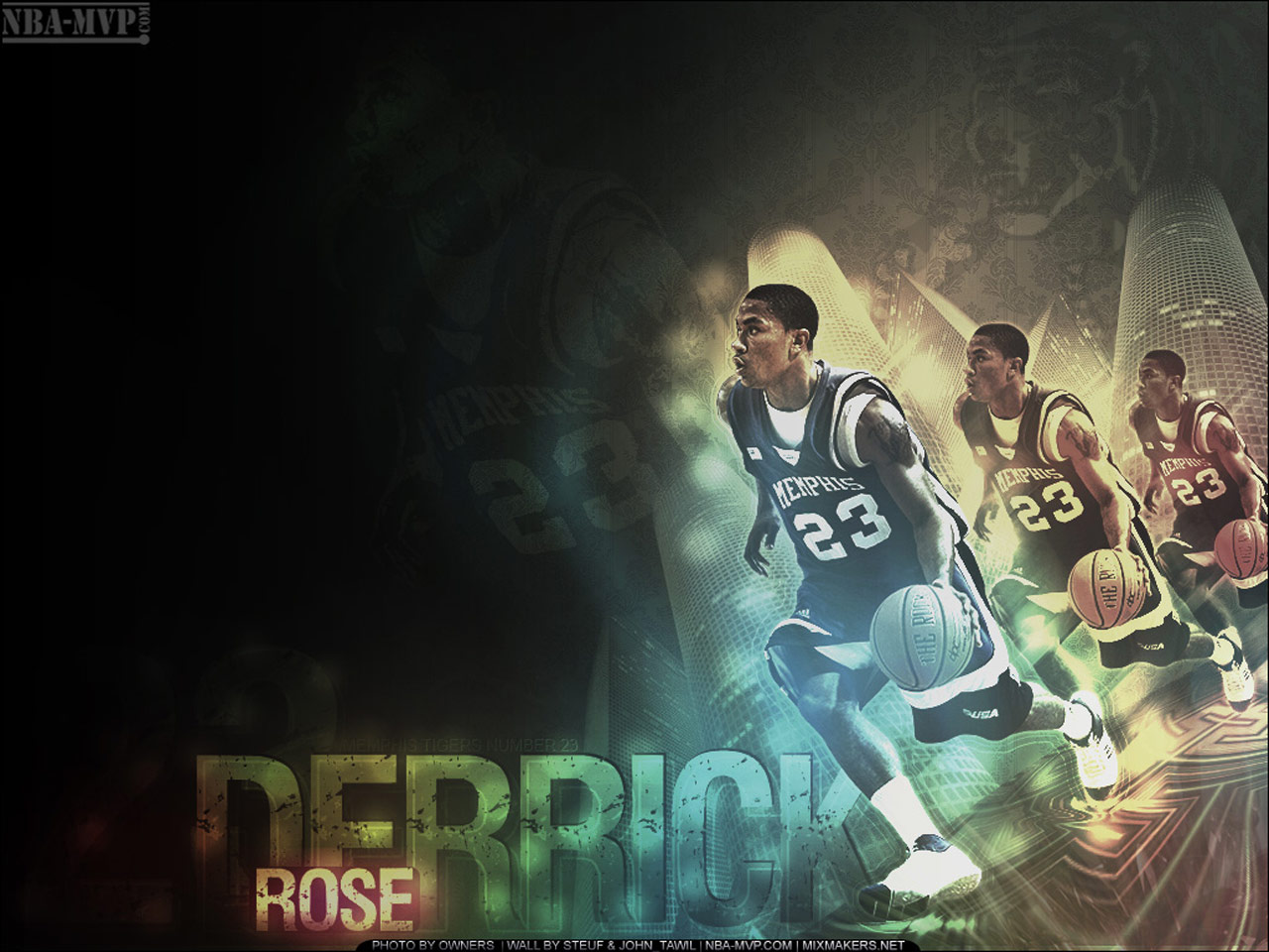 Derrick Rose basketball wallpapers NBA Wallpapers 1280x960