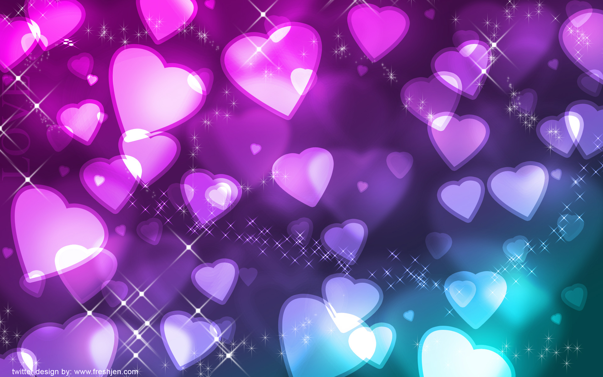 Twitter Background Backgrounds Heart Hearts Freshjen HD wallpapers 1920x1200
