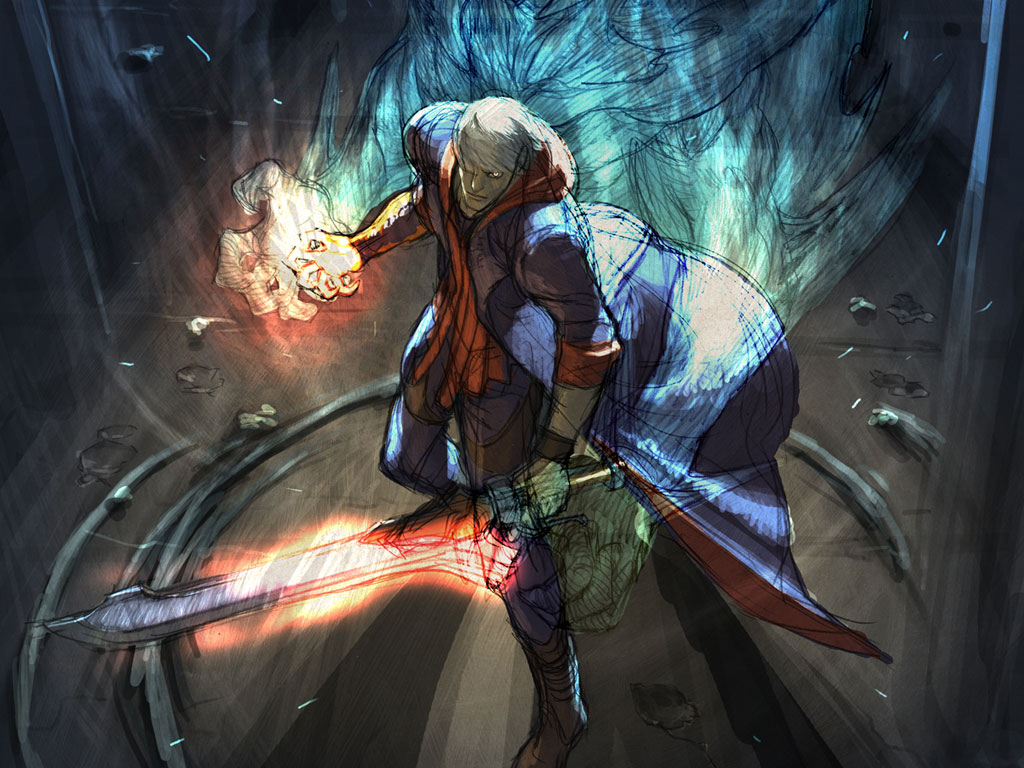 Free Download Wallpaper Sea Devil May Cry 4 Background 1024x768