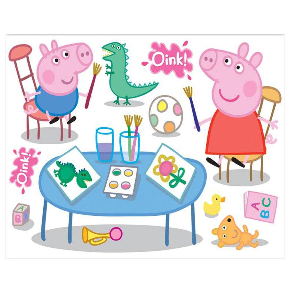 Fun4Walls Peppa Pig Maxi Wall Sticker Stikaround SA30191   Fun4Walls 1000x1000