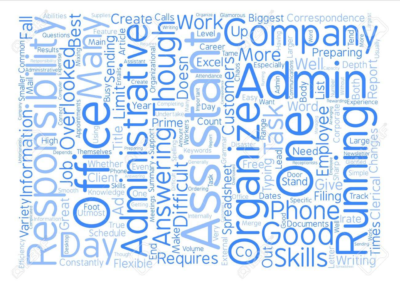 The Responsibilities Of An Administrative Assistant Text 1300x917