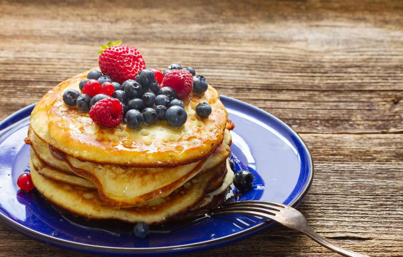 Wallpaper raspberry blueberries pancakes desert food sweet 1332x850