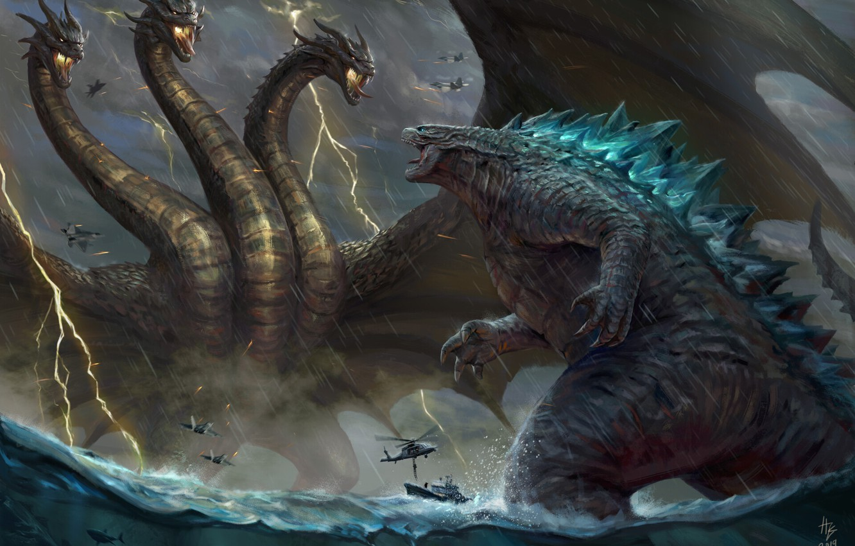 Wallpaper The ocean Sea Dragon Fantasy Dragon Godzilla Art 1332x850