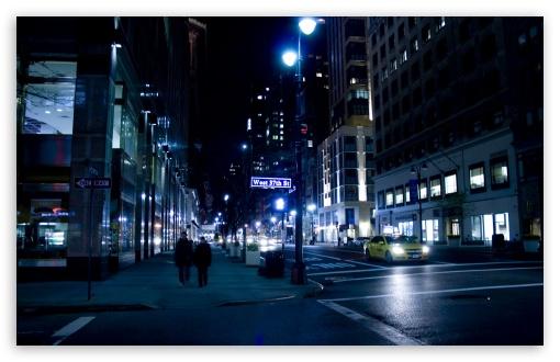 City Street Night HD desktop wallpaper High Definition Fullscreen 510x330