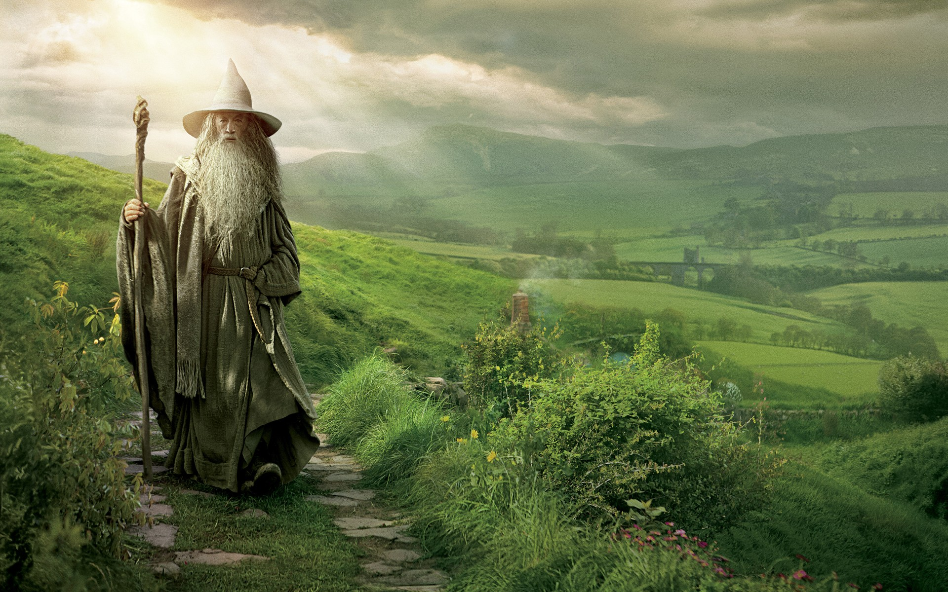 In The Shire Wallpapers Gandalf In The Shire Myspace Backgrounds 1920x1200