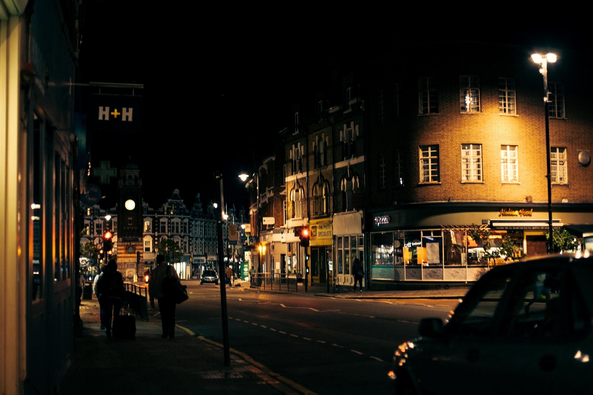 Франция дороги ночь фонари  № 2229357 без смс